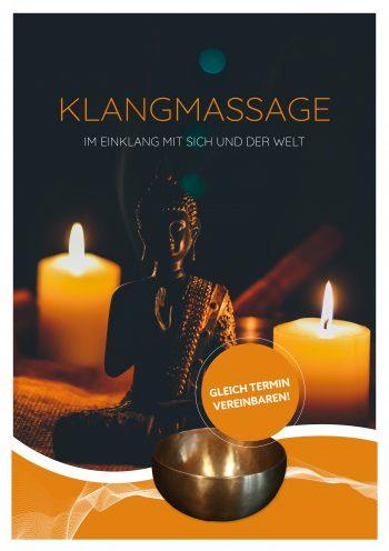 Plakat Klangmassage Buddha Welle