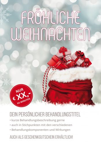 Plakat Weihnachtspakete Angebot