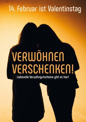 Plakat Valentinstag Frau-Frau