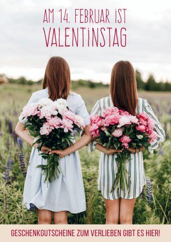 Plakat Valentinstag Frauen Blumen