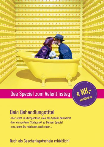 Plakat-Valentinstag Gelbe Wanne