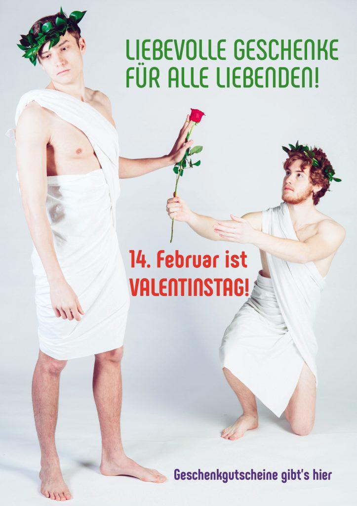 Plakat Valentinstag Männer Rose