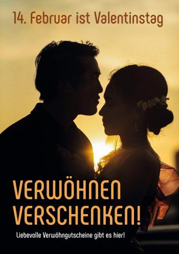 Plakat Valentinstag Mann-Frau
