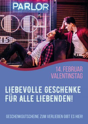Plakat Valentinstag Mann-Mann