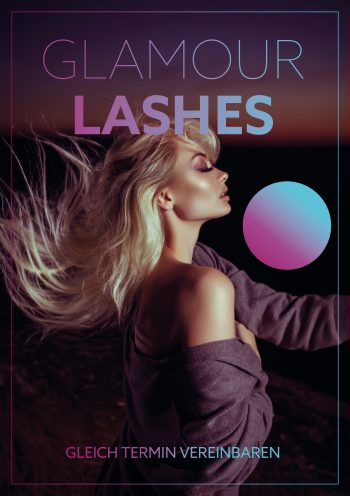 Plakat Glamour Lashes