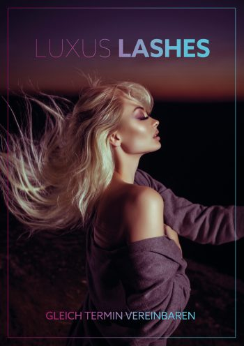 Plakat Luxus Lashes