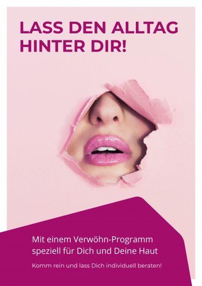 Plakat Hautpflege Alltag