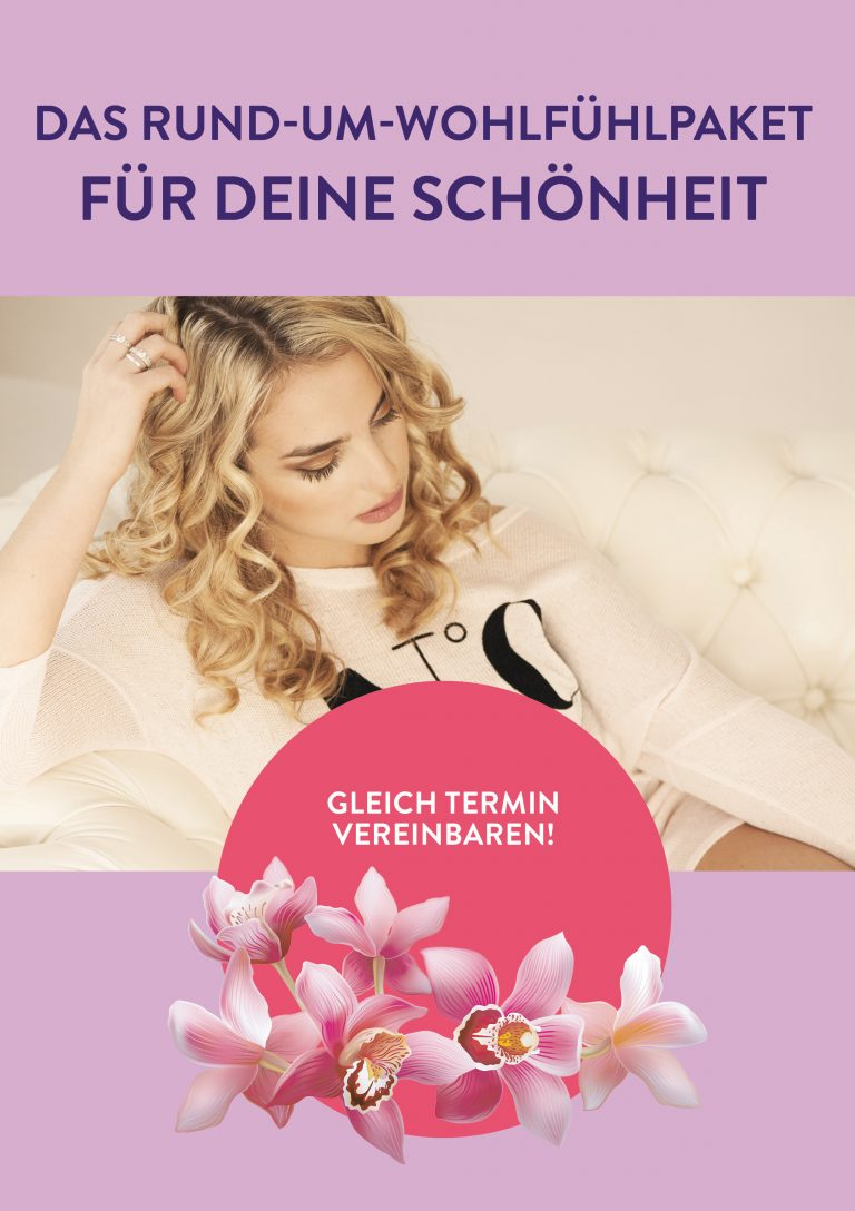 Plakat Schönheit Wohlfühlpaket