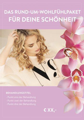 Plakat Schönheit Wohlfühlpaket Angebot