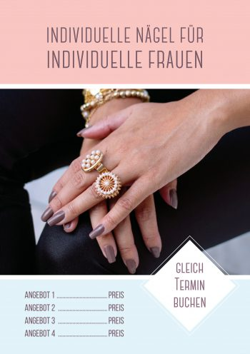 Plakat Nails individuell Angebot