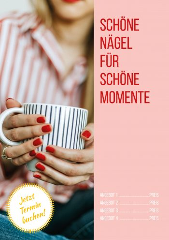 Plakat Nails Momente Angebot