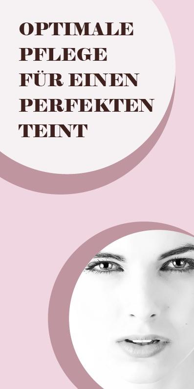 Flyer Kosmetik perfekter Teint