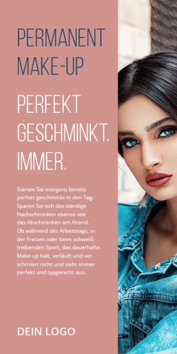 Flyer Kosmetik Permanent Make-up