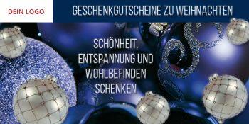 Weihnachtsflyer blau