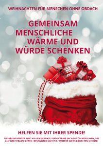 Plakat Weihnachtsaktion Wohnungslos